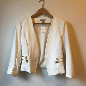 NWT H&M white jacket with gold embellishment